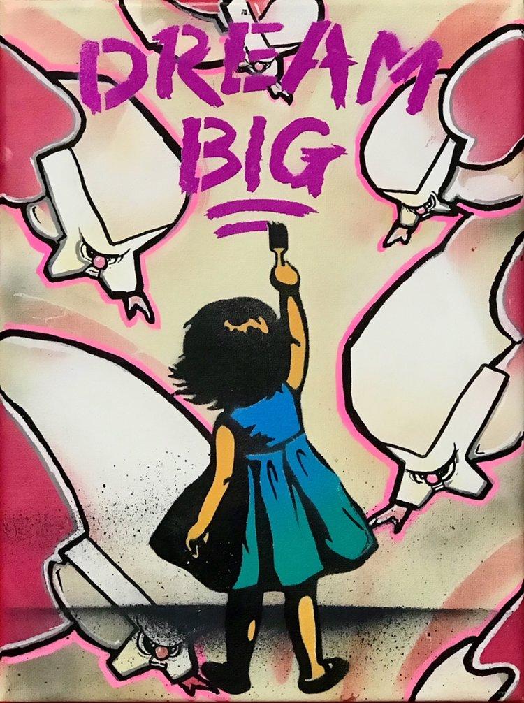 "Title: ""MadVaillan Big #2"" Artist: AJ Lavilla x MadVaillan Size: 9x12 inches Series: Holiday Drop 2017"