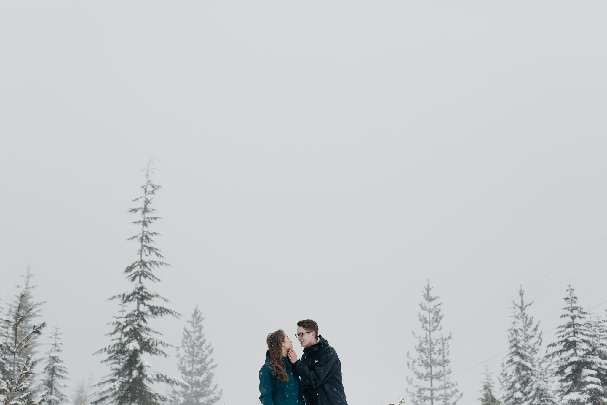 Greg + Jade - Mt Washington Winter Proposal