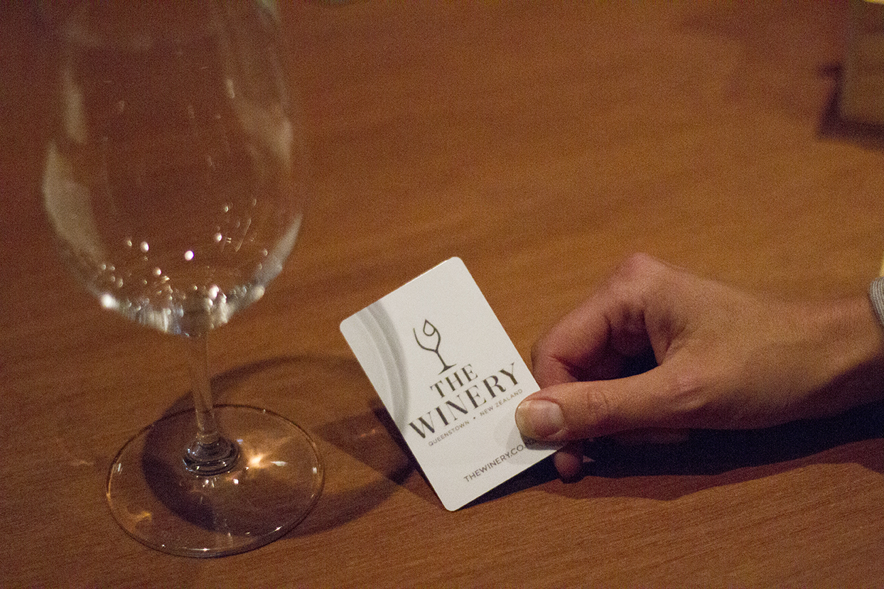 1. Get your Wine Tasting Card at the counter