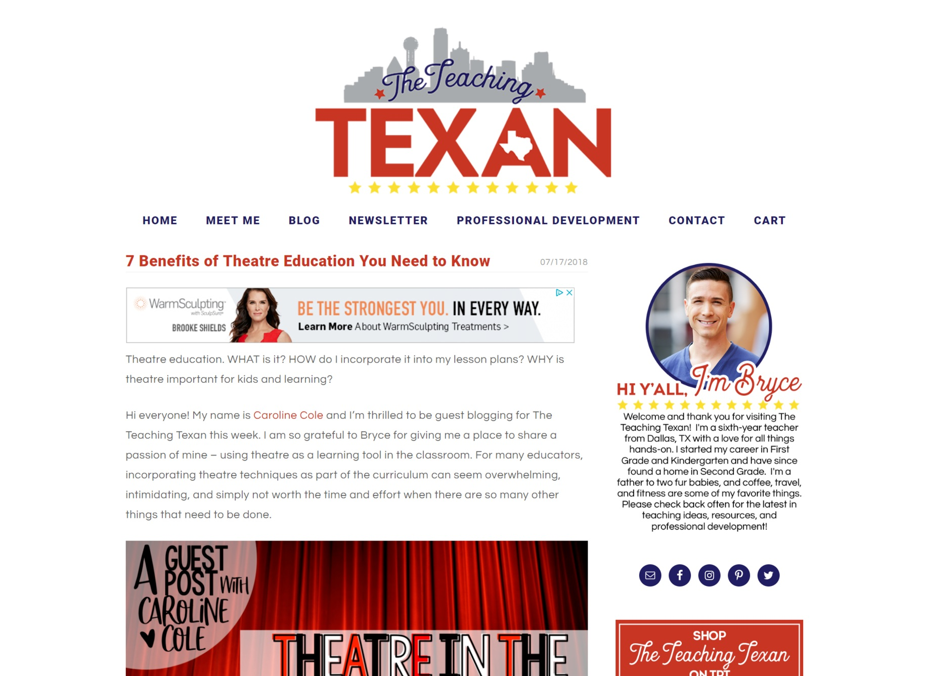 Client: The Teaching Texan  Service: Blog Posts and Newsletter Creation   View Project