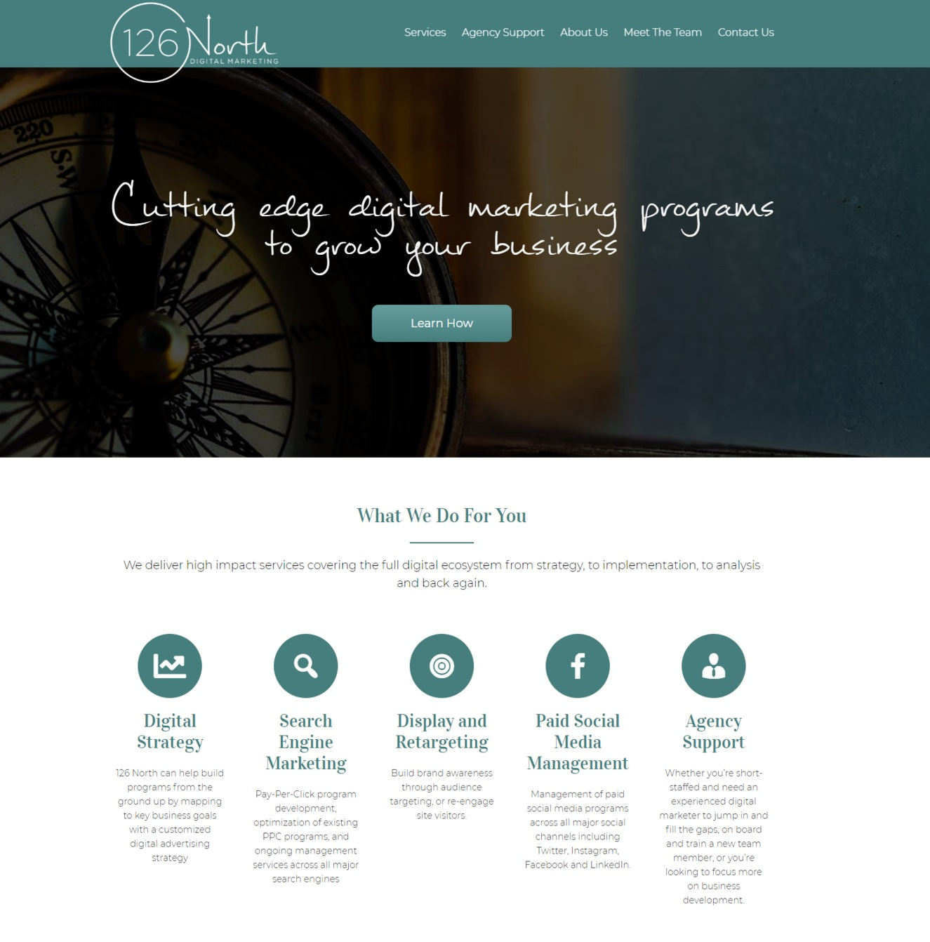 Client: 126 North Marketing  Service: Website Copy   View Project