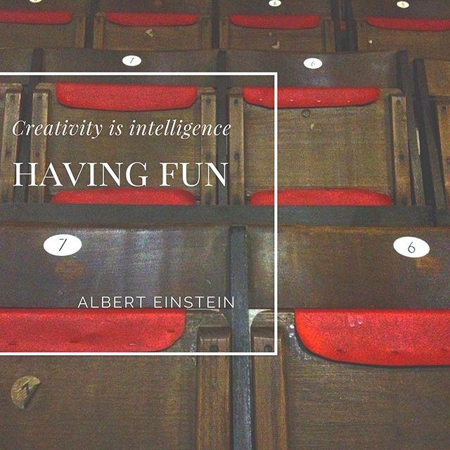 Well ain't that the truth! Happy Saturday!  #becreative#creativity#havefun#alberteinstein #creativity#intelligence#workhardplayhard #filmmaking#weekendinspiration#einstein