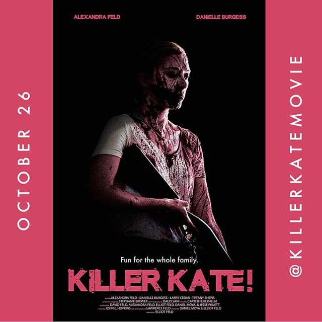 @bdisgusting brings us the Official Poster Art today!! @KillerKateMovie hits theatres this October and we couldn't be more excited to start sharing it with you starting this month @ festivals! . . . . . #movierelease #killerkatemovie #killerkate #horror #comedy #johncarpenter #halloween #girlpower #femaledriven #feldfilms #movies #filmmakers #horrorfestival #finalgirl