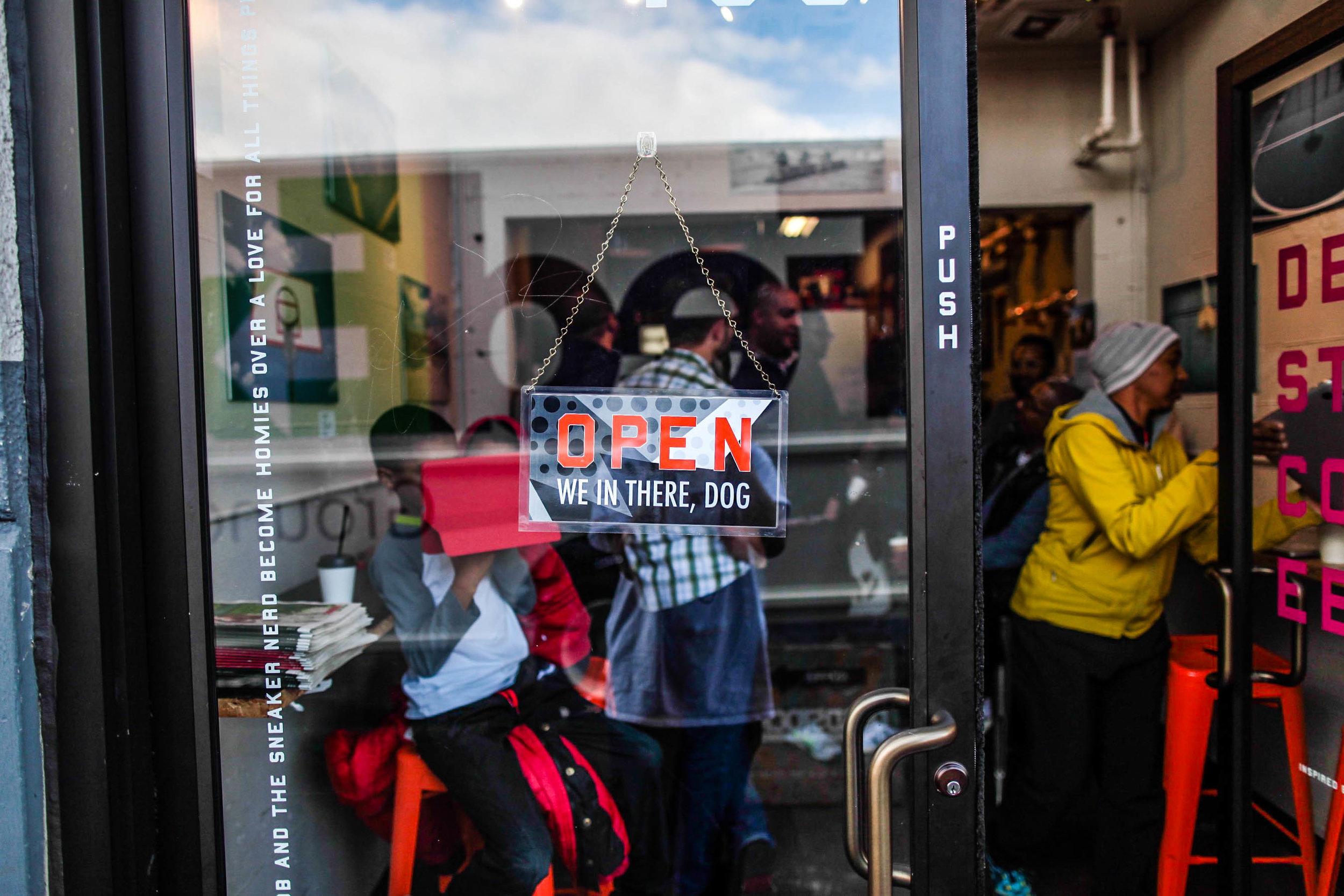Deadstock Coffee Front Door Open