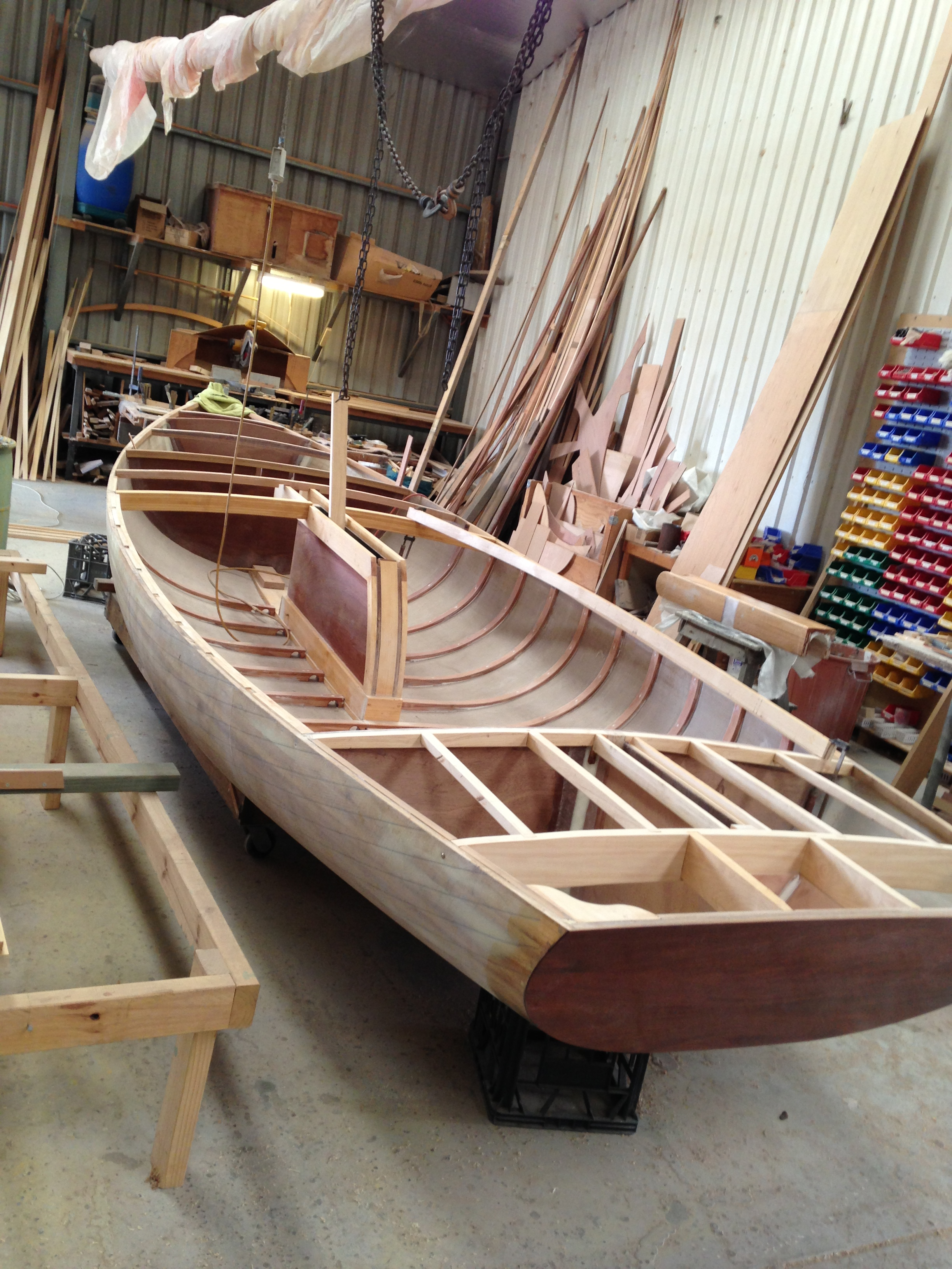 Alden 21ft Sloop Duck Flat Wooden Boats