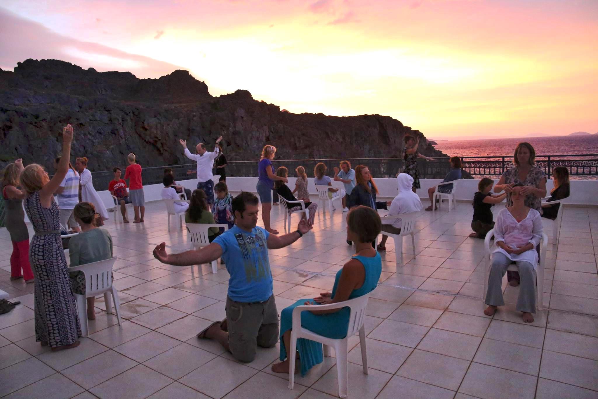 Dancing The Form under the Cretan sky.