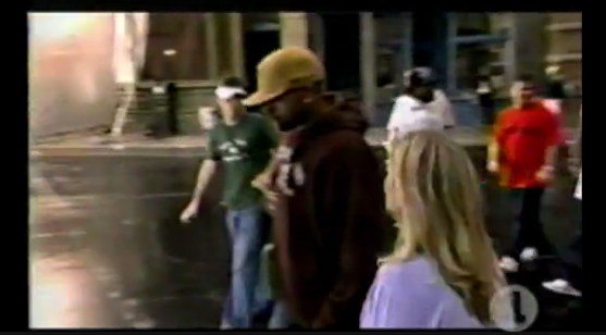 See it's me in the white visor during a VH1 Behind the Video episode for Mary J. Blige's Love @ 1st Sight video.