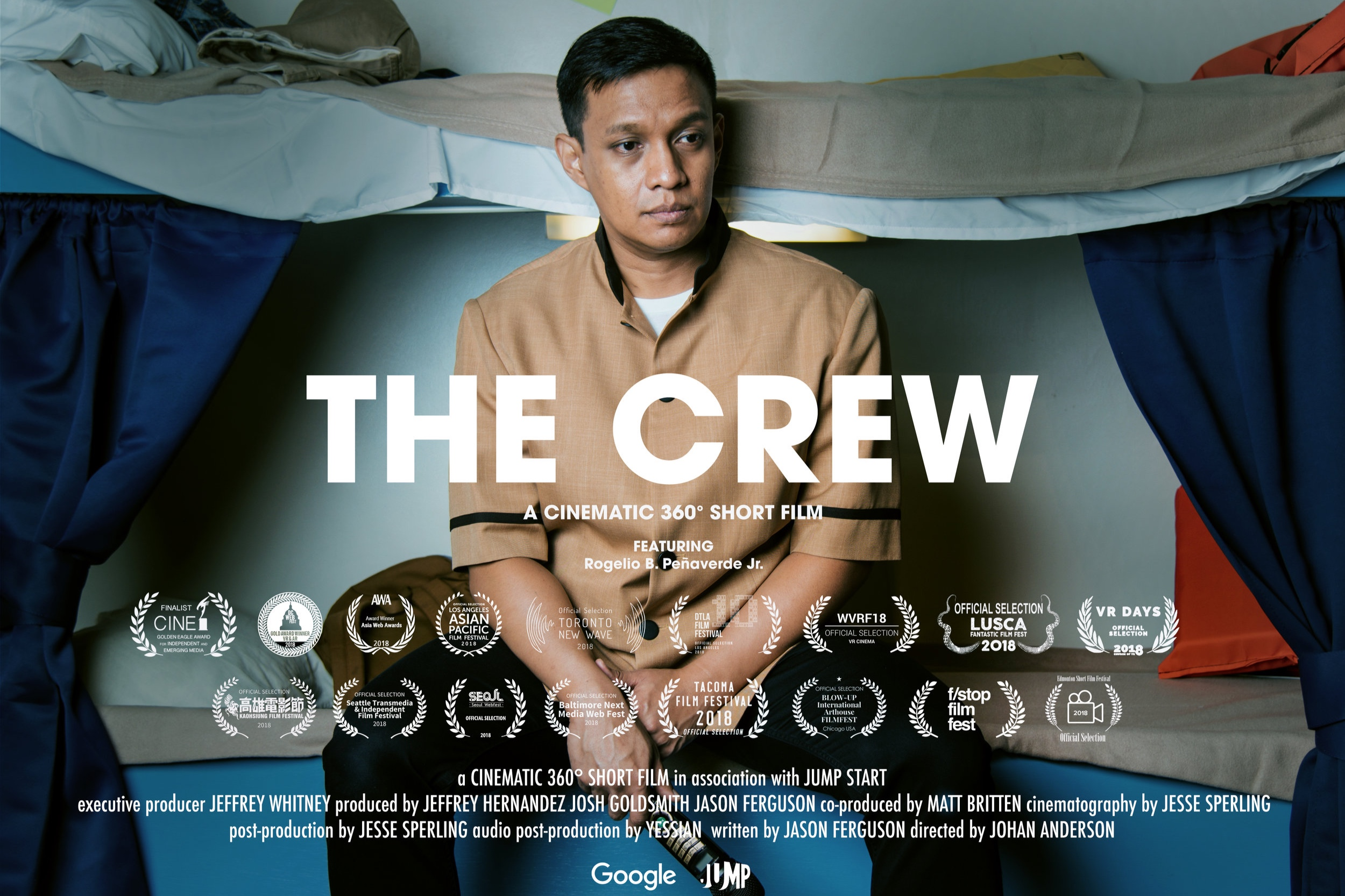 The Crew  360 narrative short film produced as part of Google's inaugural Jump Start program for VR creators.