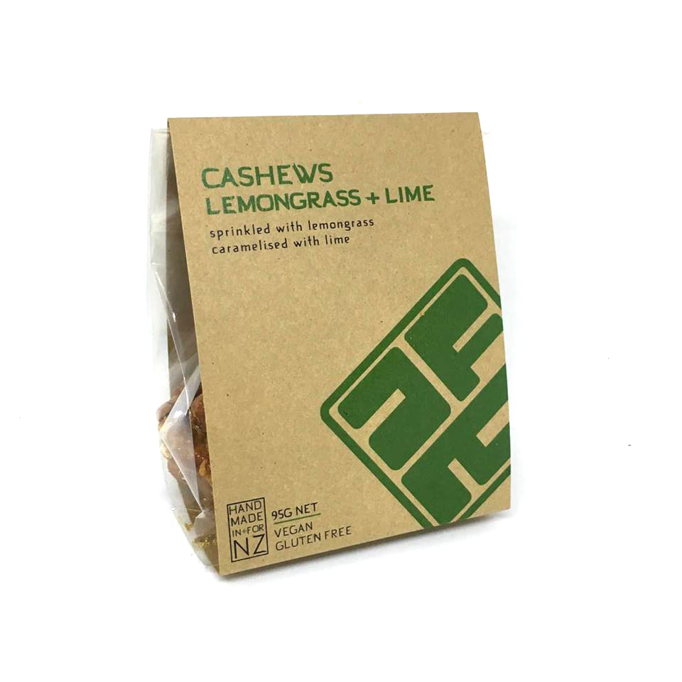LEMONGRASS + LIME CASHEW NUTS  These deliciously sweet cashew nuts can be enjoyed on their own or lightly crushed and added to curries or Asian salads.