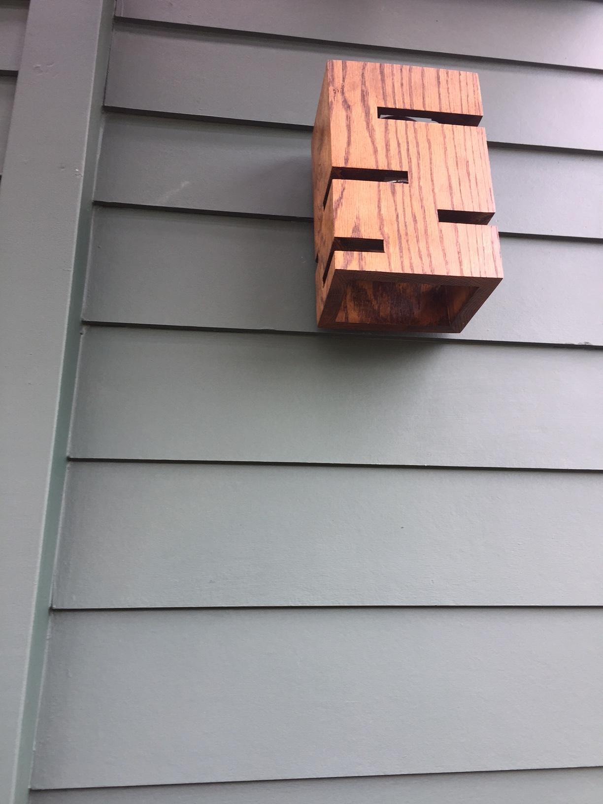 Oak Deck Sconces