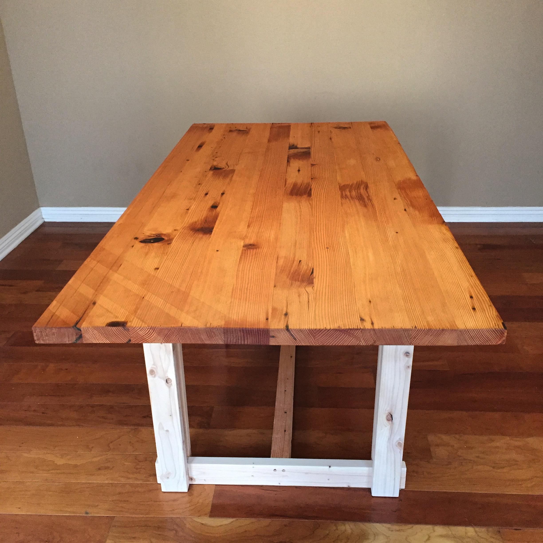 Reclaimed Doug Fir and Pine Dining Table