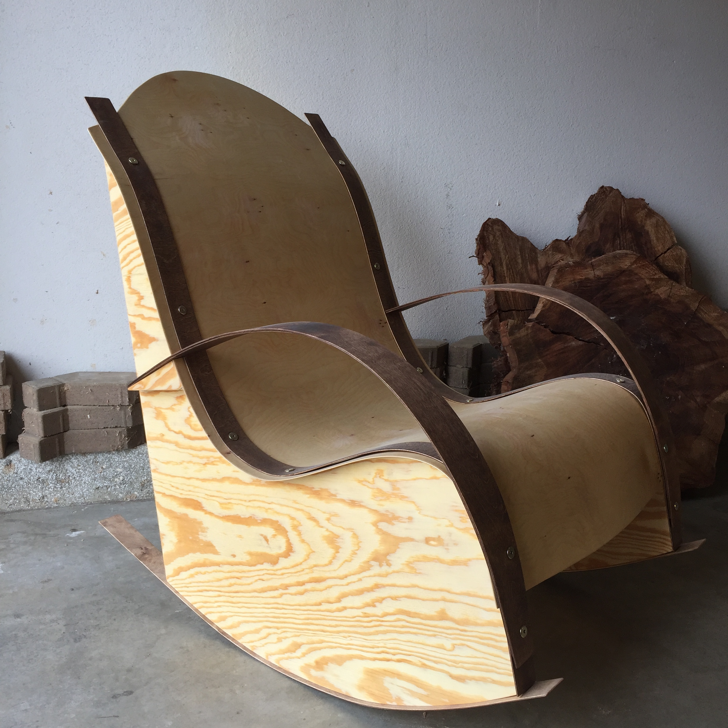ACX and Baltic Birch Rocking Chair