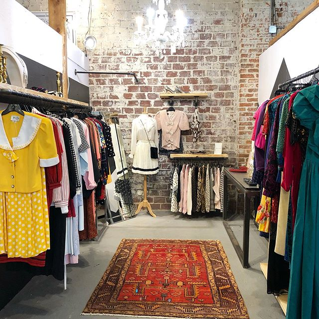 Shop swoon worthy vintage right in the heart or downtown stop by and stay awhile. Lots of interesting goodies and amazing vendors, treats, oh I can't forget the belt line. ... oh there's even a sweet cat 🐱 named Charlie to assist you with nice vibes. ✨