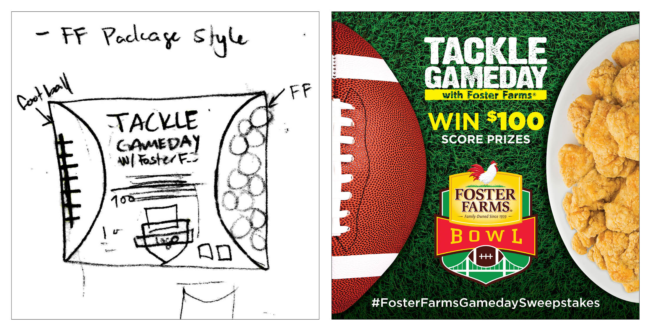 COMPANY: Foster Farms  PROJET: Social Media Posts  MY ROLE: Created and executed concepts for Foster Farms Gameday Campaign with direction from the marketing team. Platforms included Facebook, Instagram and Twitter.