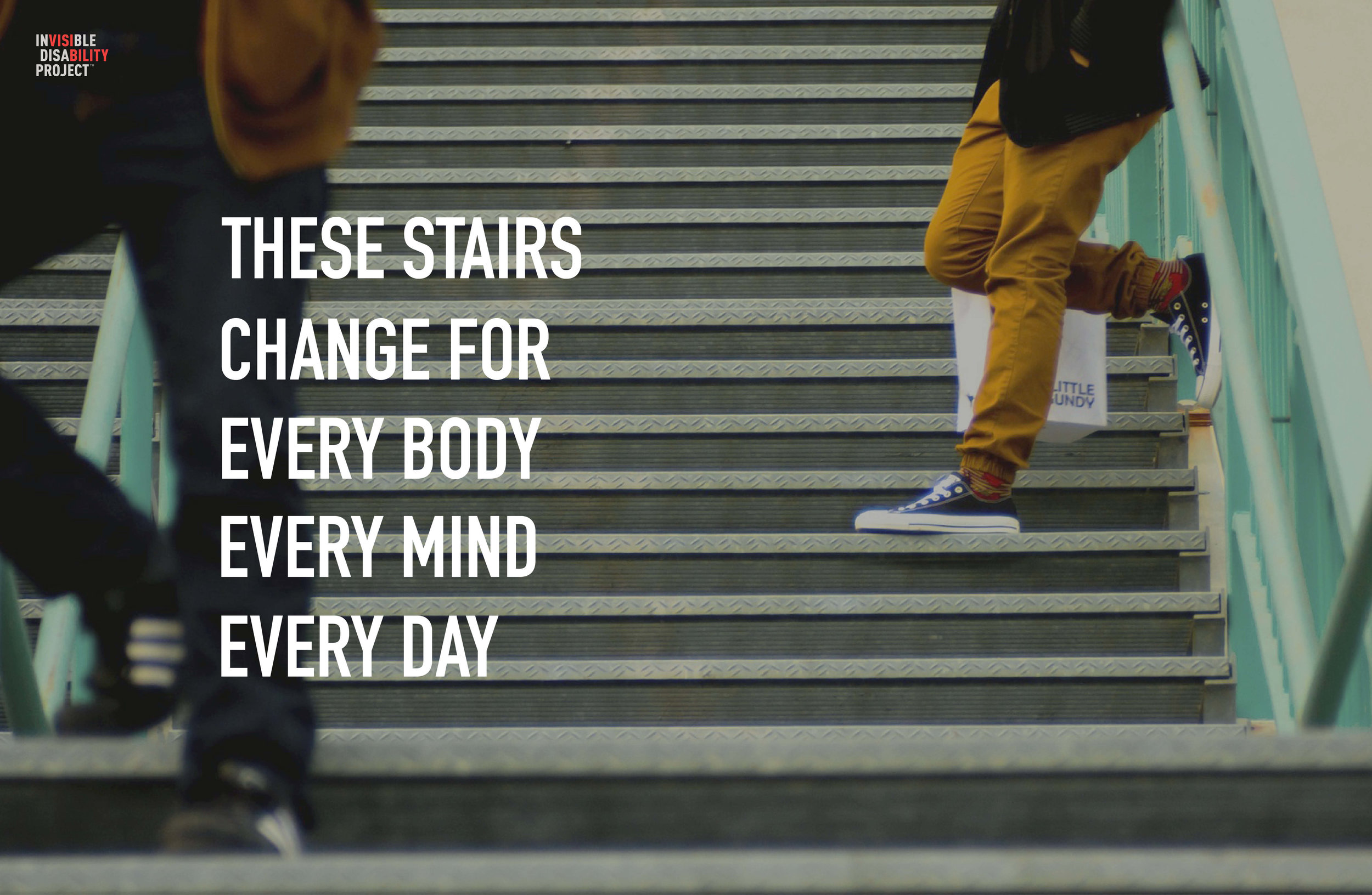 These stairs change for every body and every mind, every day.