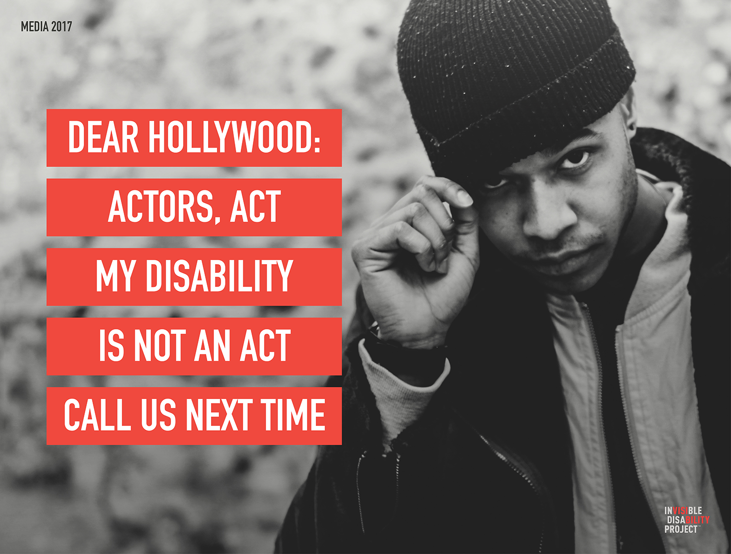 Dear Hollywood. Actors act. My Disability is not an act. Call us next time.