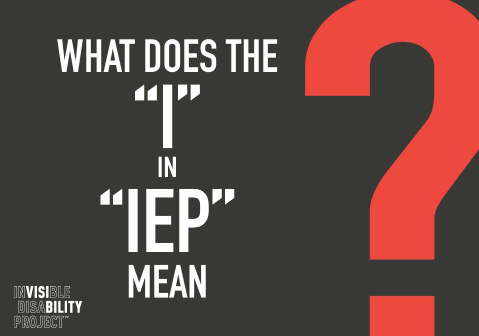 What does the I in IEP mean?
