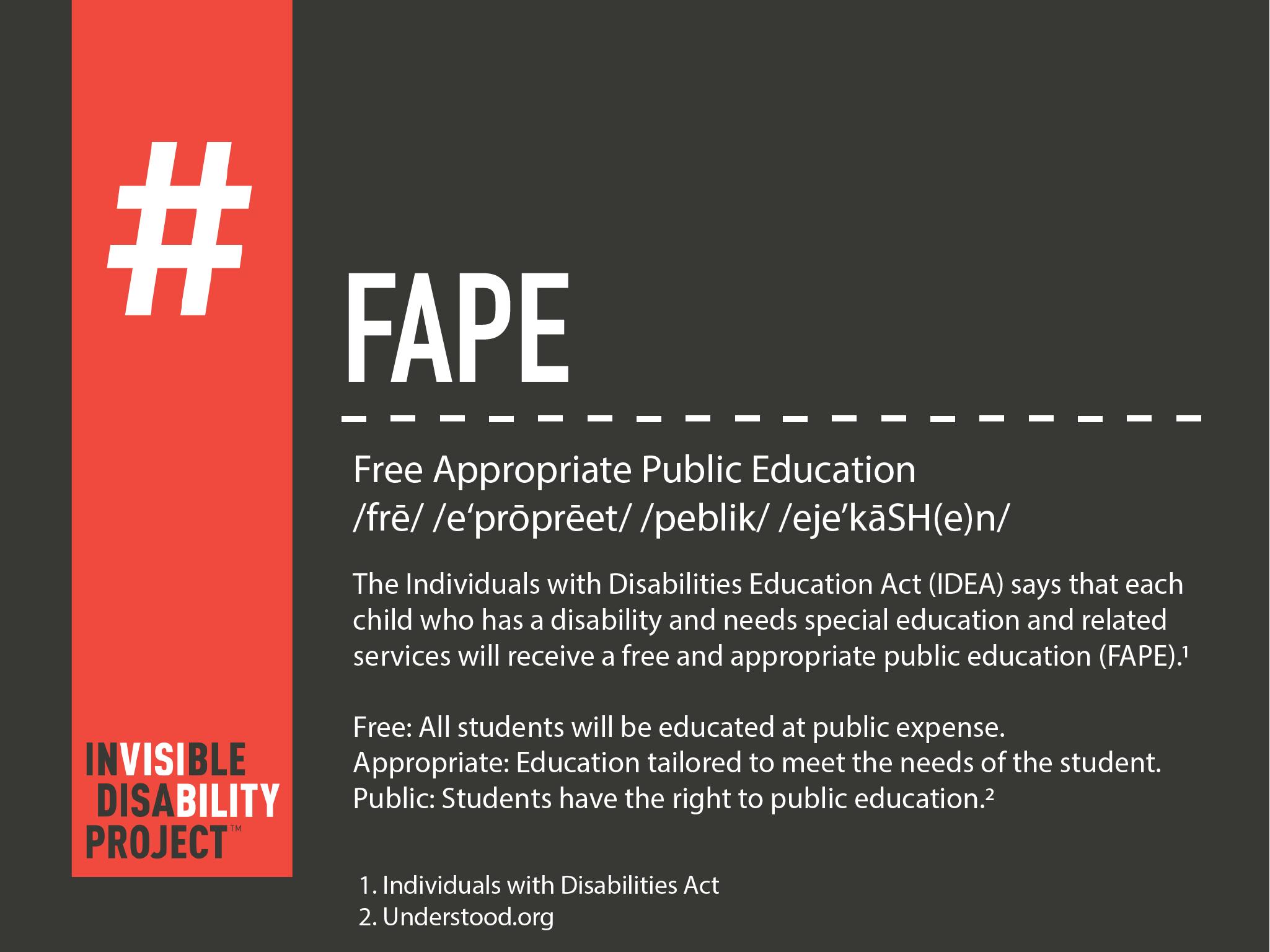 FAPE: Free Appropriate Public Education