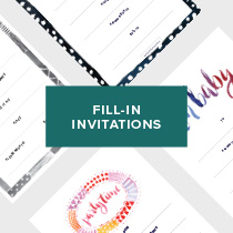 Fill-In Invitations