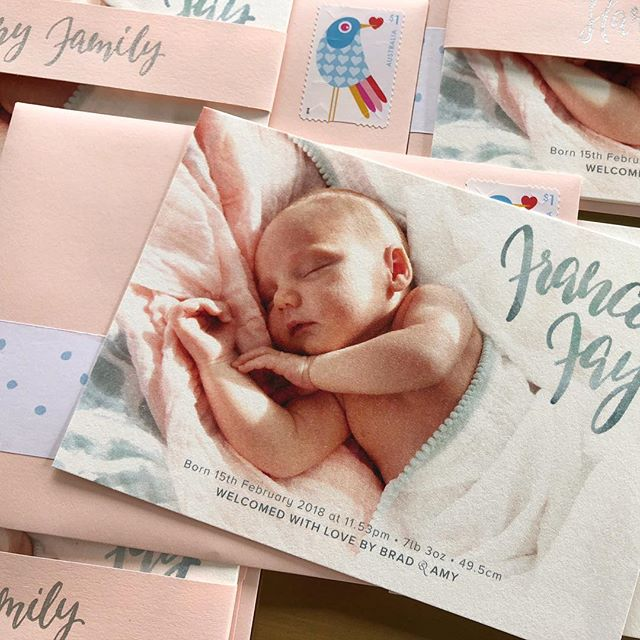 Birth announcement cards for our Frances Fay. #ourfranciefay