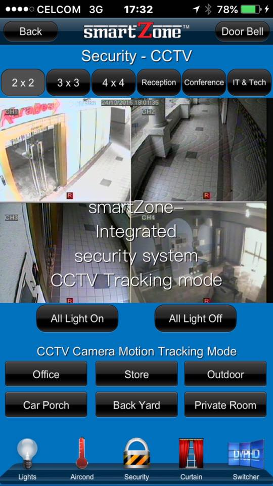 Manage your home security from phone. You can even control your premise as   the way you like through CCTV viewing.