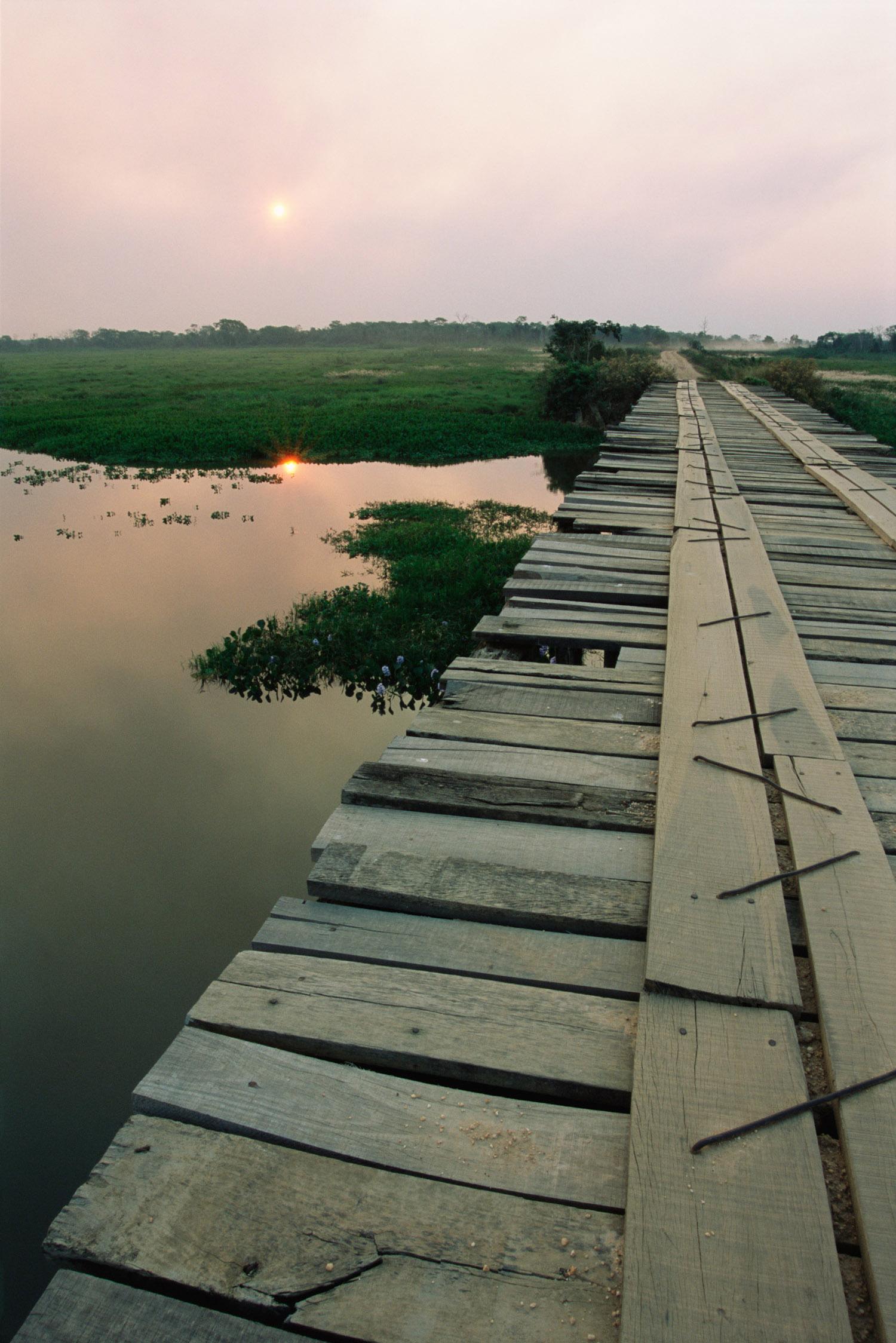 Bridge on Transpantaneira Highway, Pantanal, Mato Grosso, Brazil