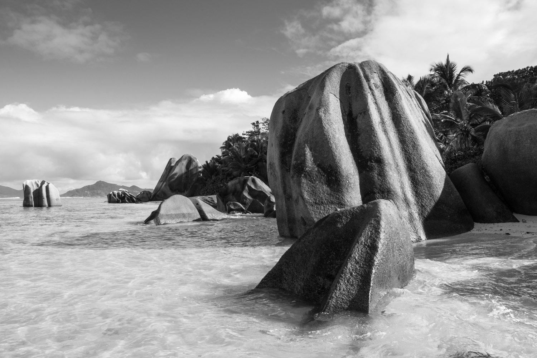 Anse Source d'Argent beach at dawn, La Digue, Seychelles