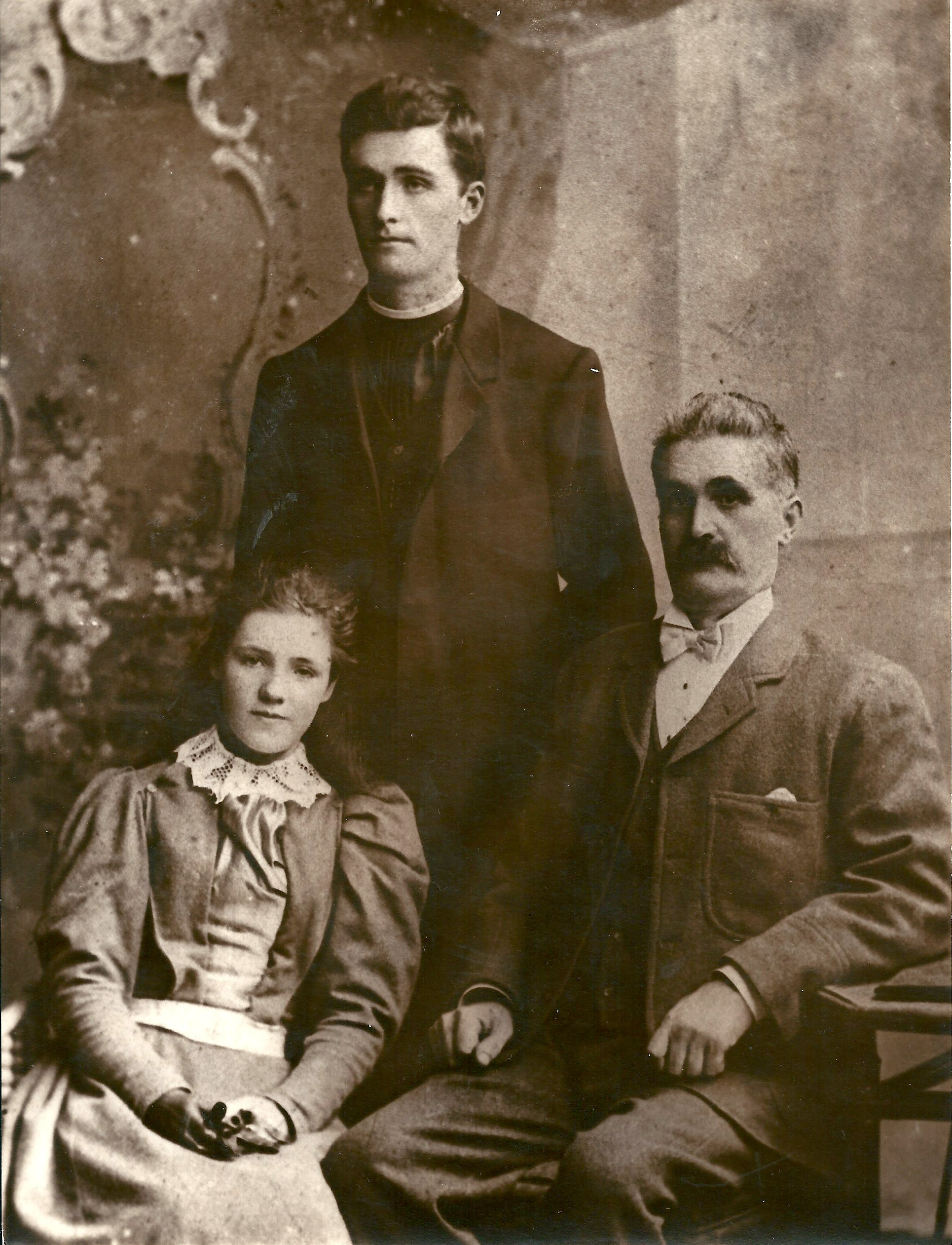 Brother Cyprian, Lucy and George Kelly about 1890.