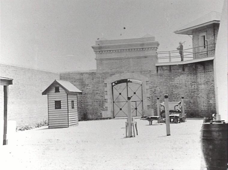 Hard labour prisoners were confined in the No.2 Yard. The yard was approximately 40m x 12m, with a 4.5m high wall. (Photo: Wollongong City Library: Illawarra Images, P12/P12795)