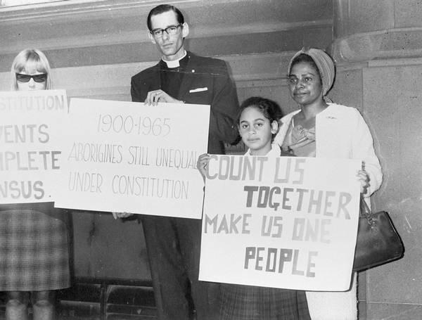 'Bishop Garnsey, Faith and Lilon Bandler campaigning for a YES vote, 1967'. (photo: http://www.sbs.com.au/nitv/explainer/explainer-67-referendum)