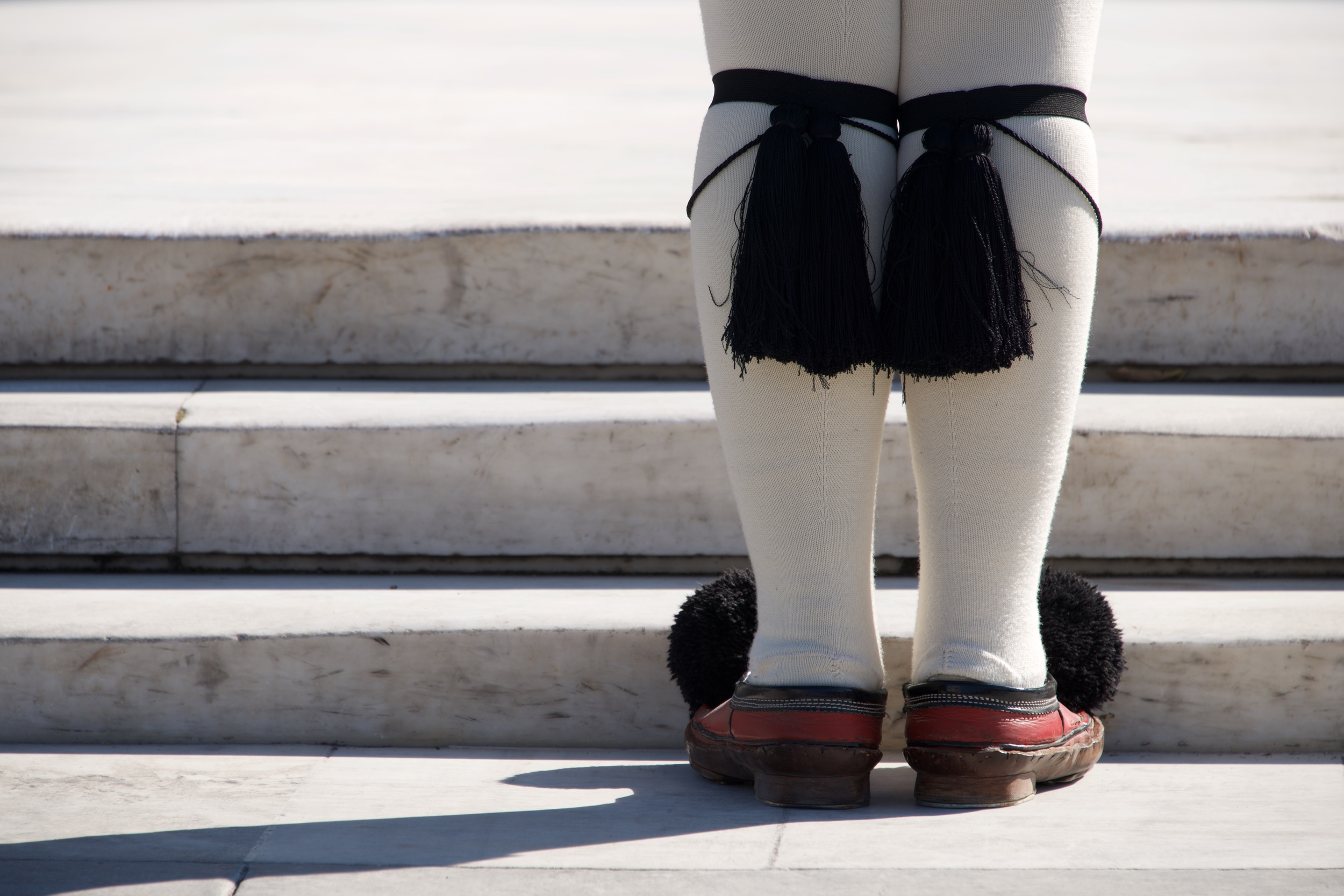 Close-up of tassels of Greek presidential guardsman.jpg