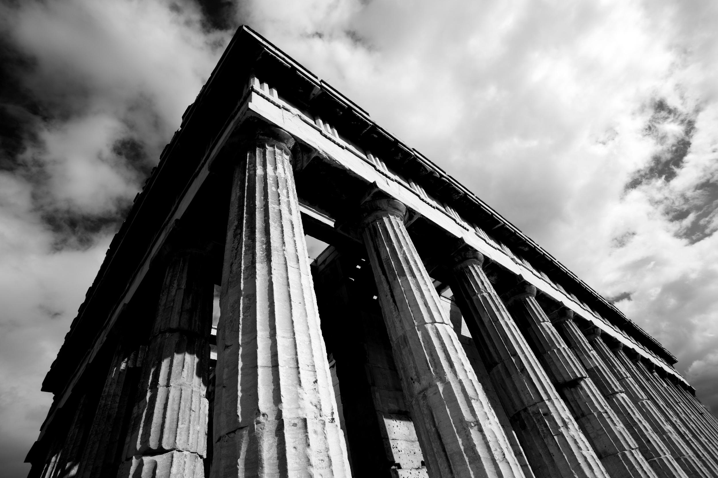 Mono corner of Temple of Hephaistos colonnade.jpg