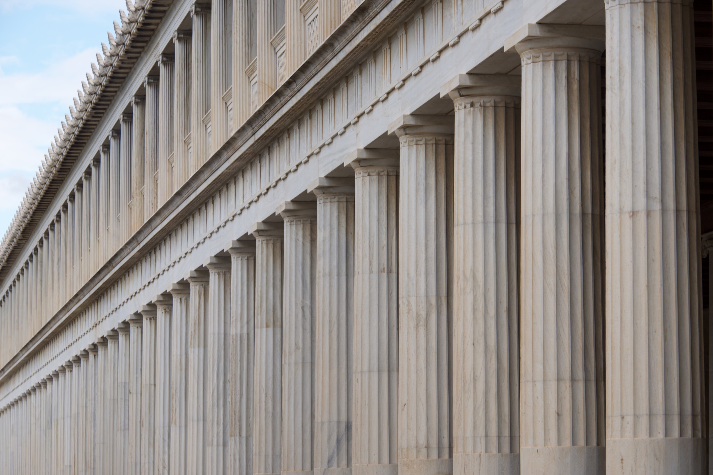 Close-up of marble Stoa of Attalos colonnades.jpg