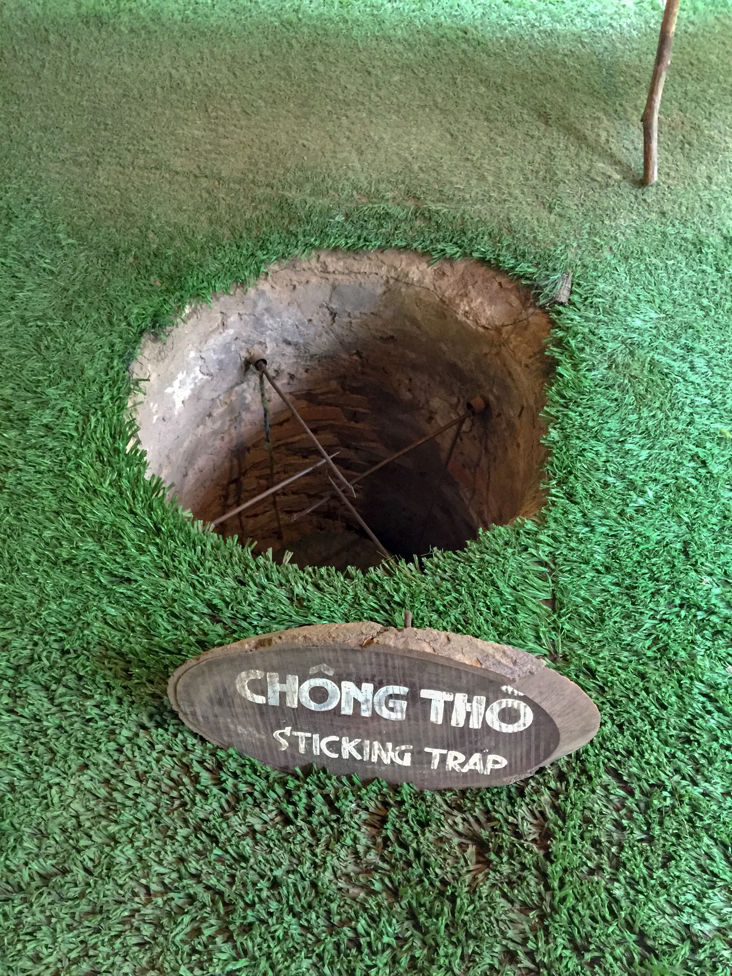 A Viet Cong trap designed to catch US soldiers