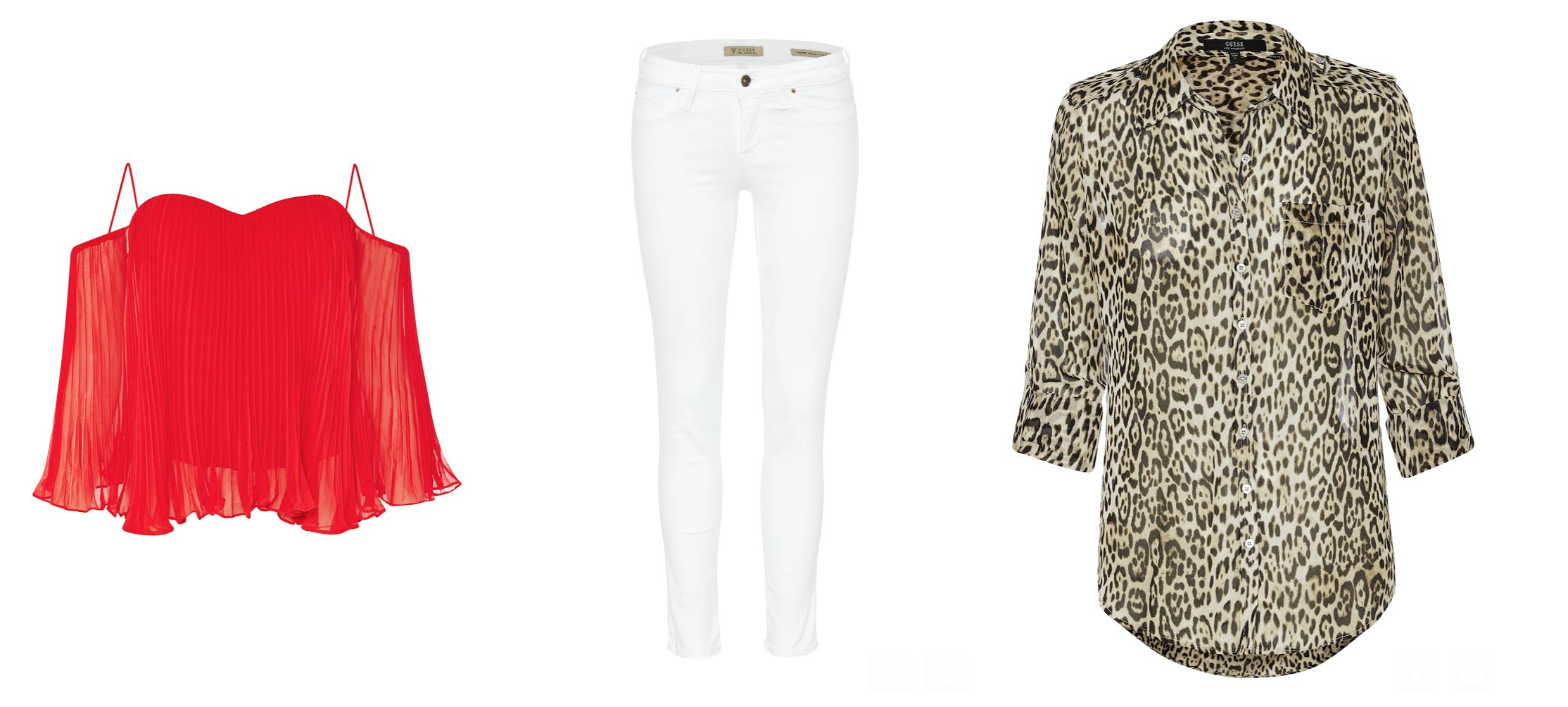 Both tops look AMAZING with their skinny white jeans!