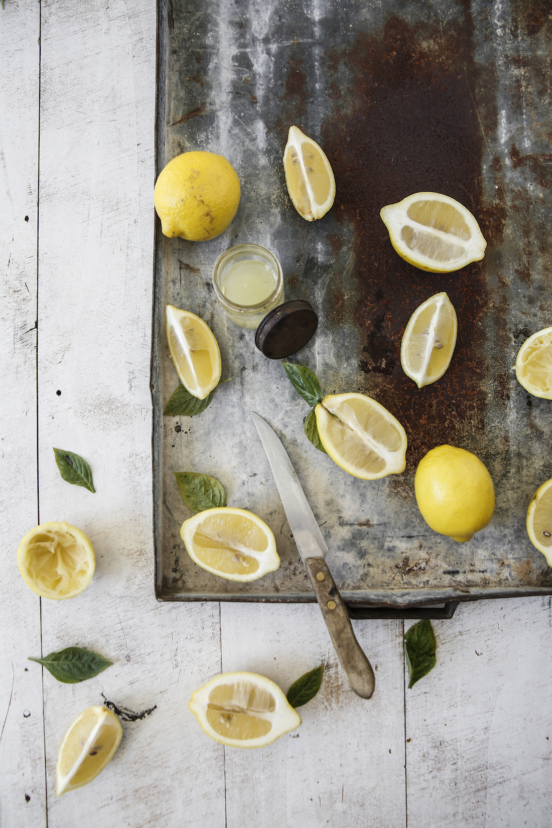 Lemons! On salads & in hot or chilled water. A Vitamin C hit is good for your gut, your skin & general wellbeing.
