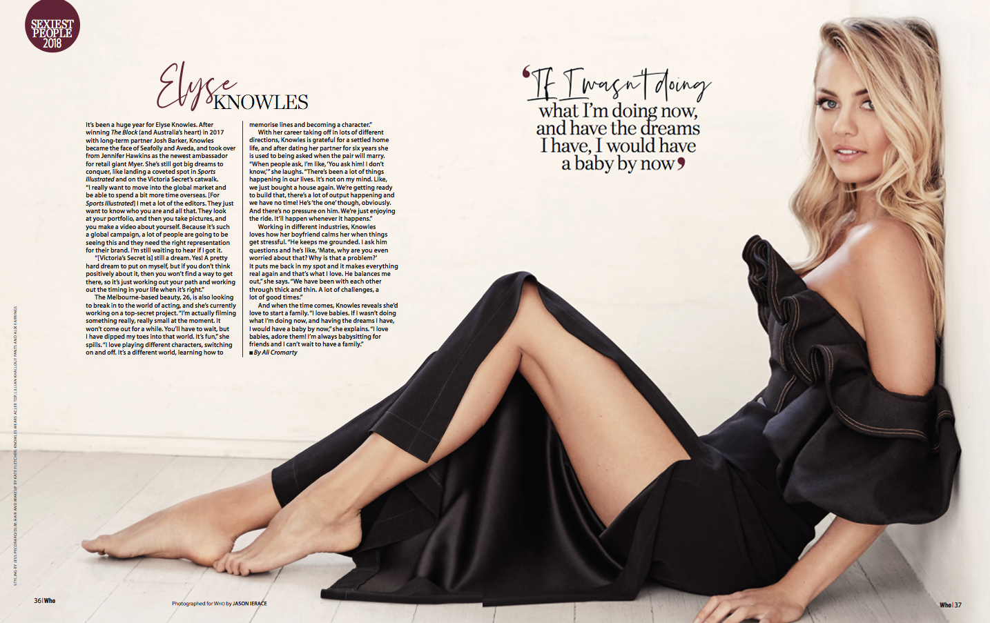 WHO Magazine Elyse Knowles