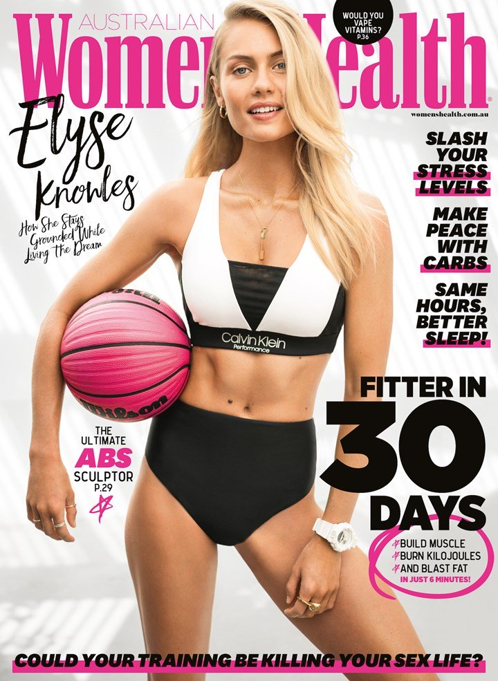 ELYSE KNOWLES WOMENS HEALTH COVER APRIL 2019