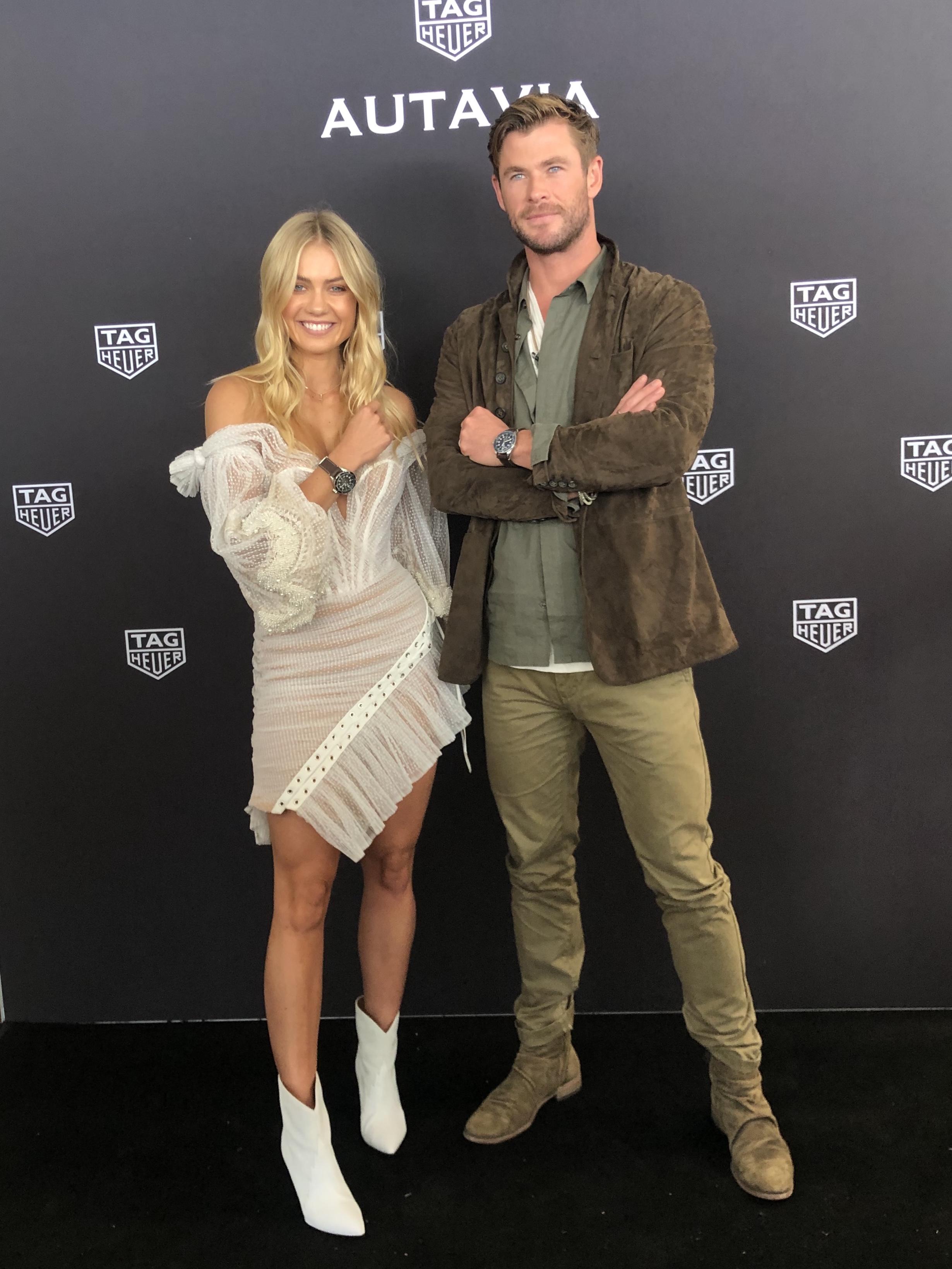 Elyse Knowles & Chris Hemsworth - Tag Heuer 2019 7.jpg