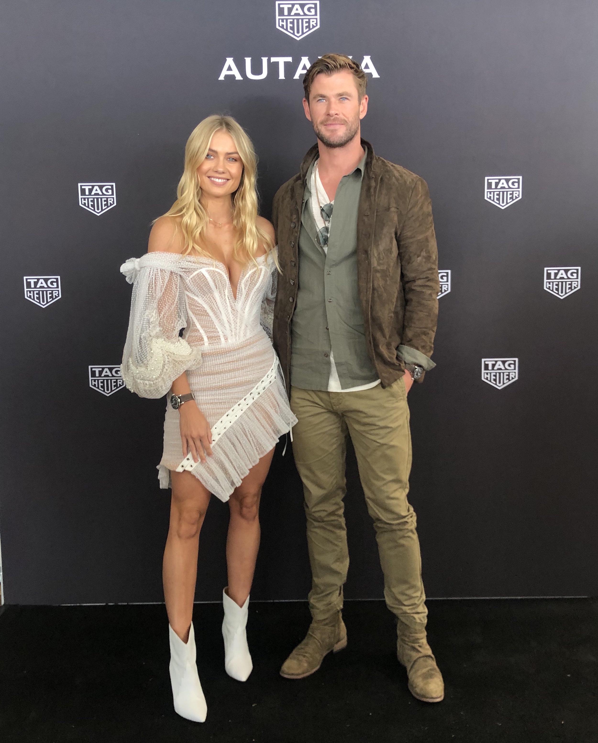 Elyse Knowles & Chris Hemsworth - Tag Heuer 2019 6.jpg