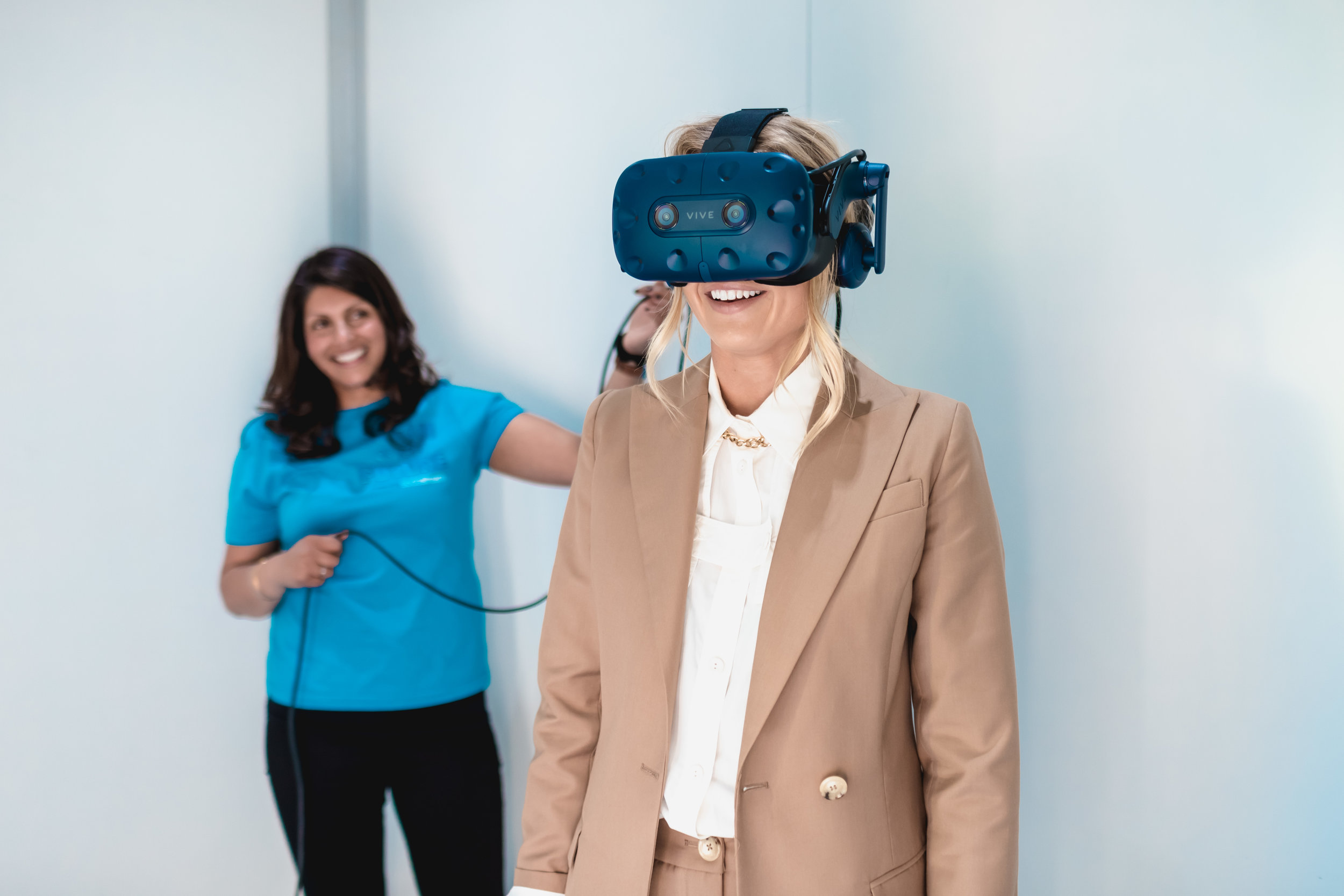 This is me wearing the SodaStream VR headset. You'd be stunned at what I can see!
