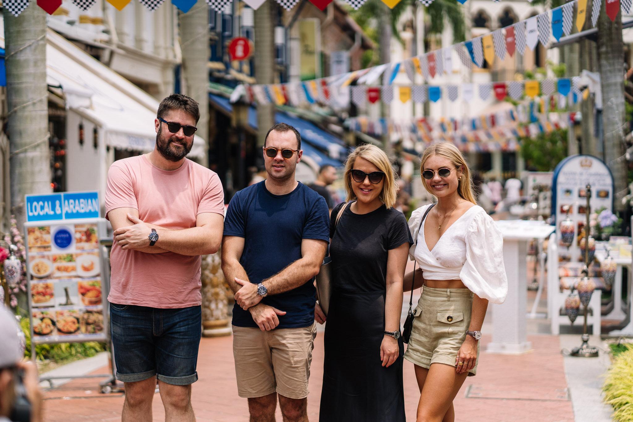 Michael, Scott, Megan  & Elyse Knowles SINGAPORE TAG HEUER 2019