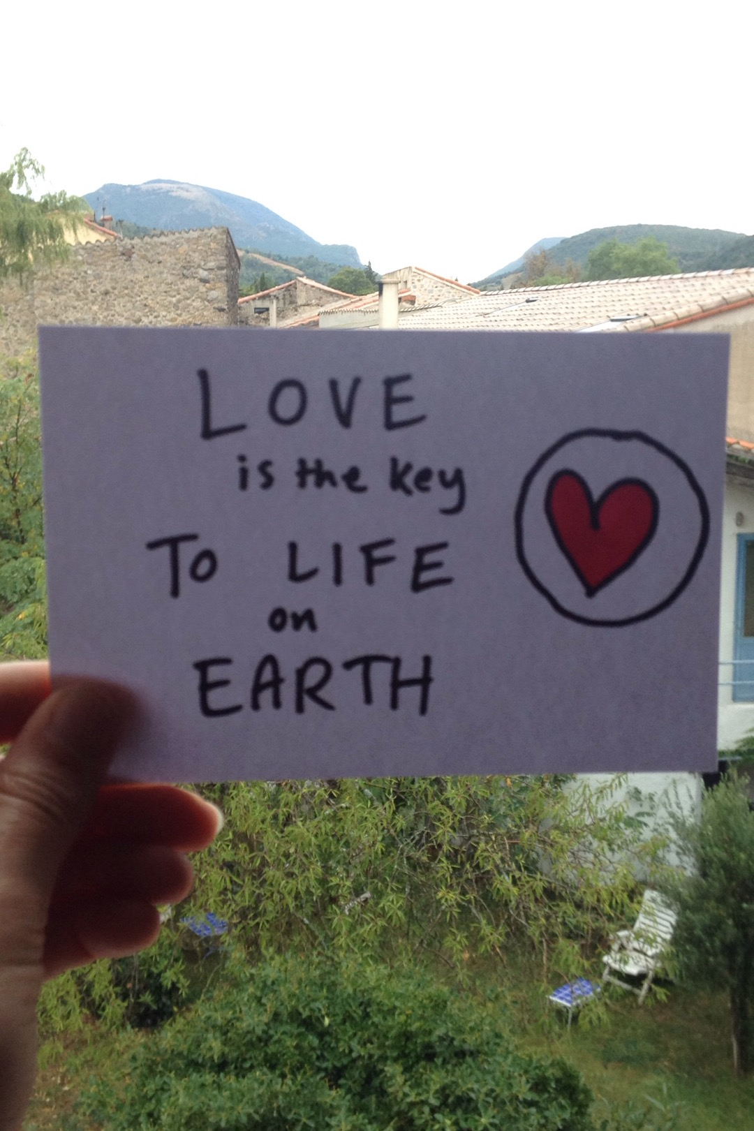 Love is the key to life on earth.JPG