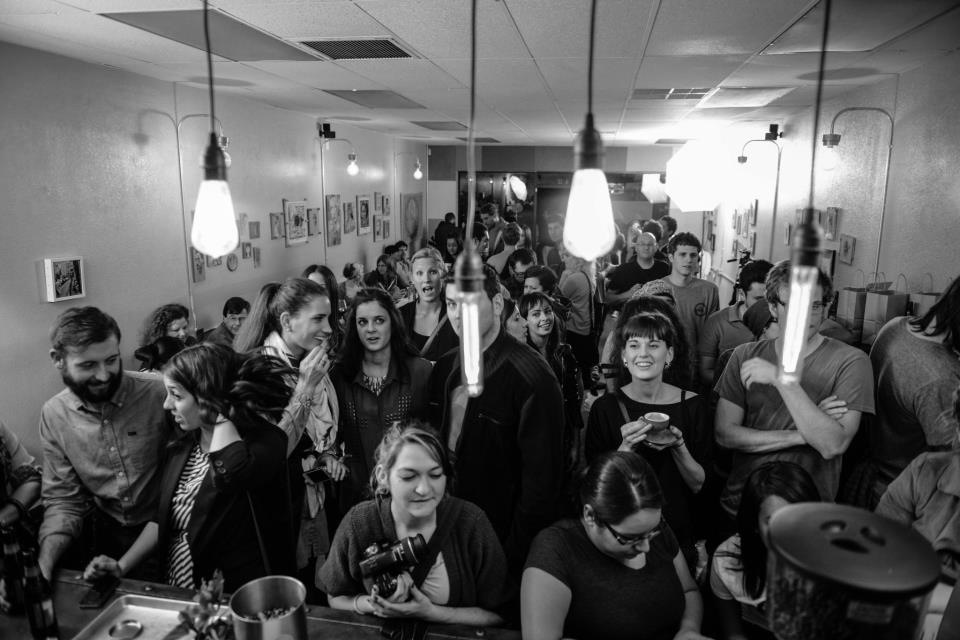The crowd at our event | Phoenix. AZ | Photo by Royal & Design