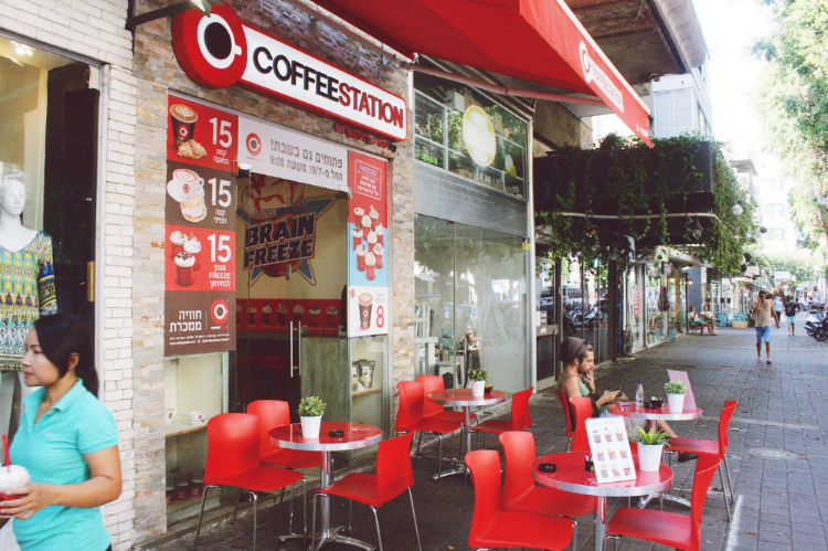The most famous cafe in Tel Aviv, Israel
