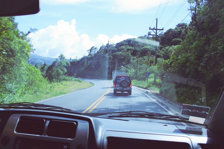 The road from San Jose to Santa Maria de Dota