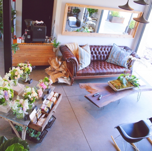 Inside the flower shop
