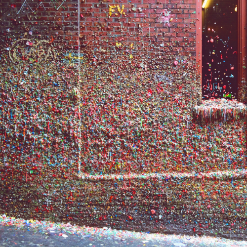 The infamous gum wall at Pike Place