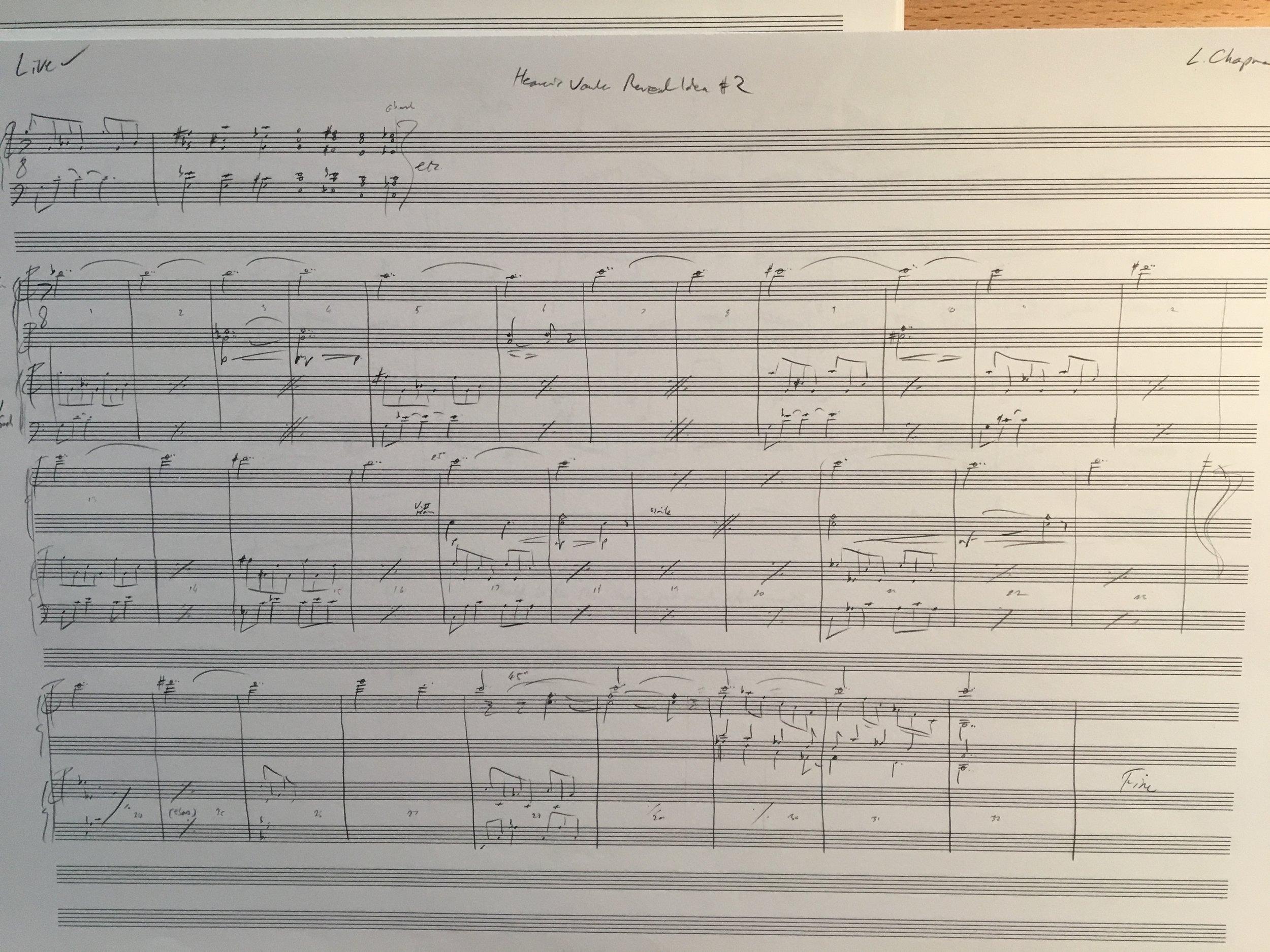 The original score for 'Reveal #2'