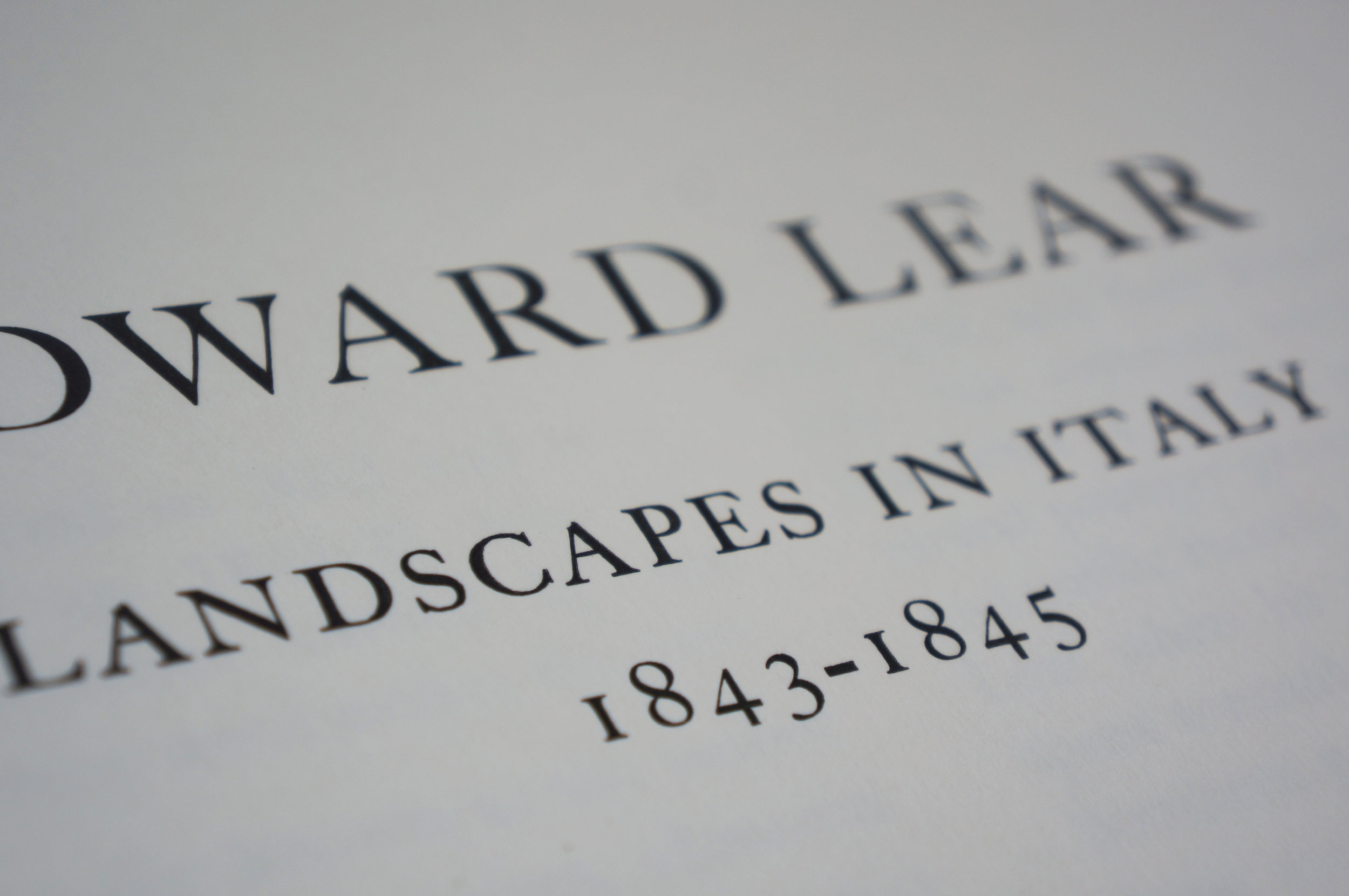 Letterpress printed title